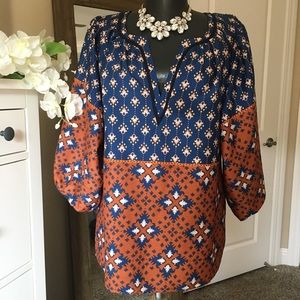 Collective Concepts Peasant Sleeve Blouse S